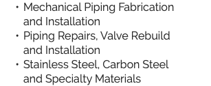 Mechanical Piping Fabrication 